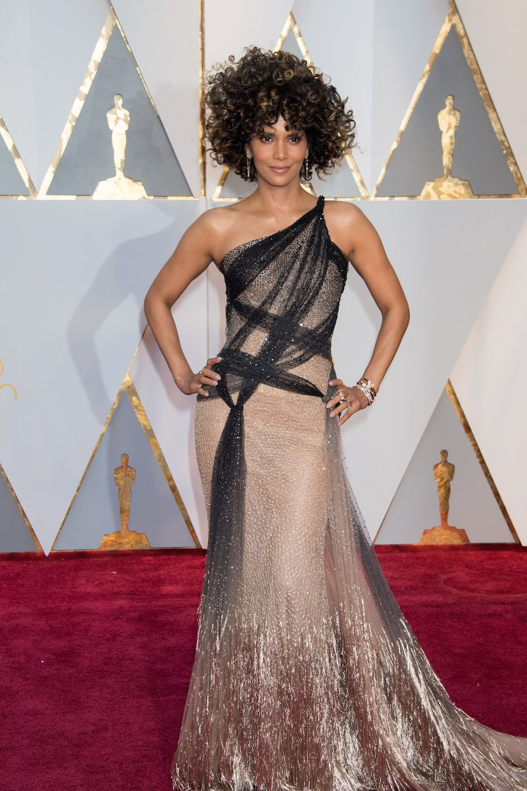 Halle Berry, presenter, arrives on the red carpet of The 89th Oscars® at the Dolby® Theatre in Hollywood, CA on Sunday, February 26, 2017. #fashion #beauty #Oscars #redcarpet #4ChionStyle