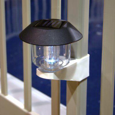 Vinyl Works Solar Light Kit For Above Ground Pool Fence 4 Pack