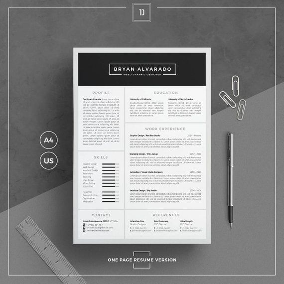 Resume Templatecv Template Cover Letter Business Card Word