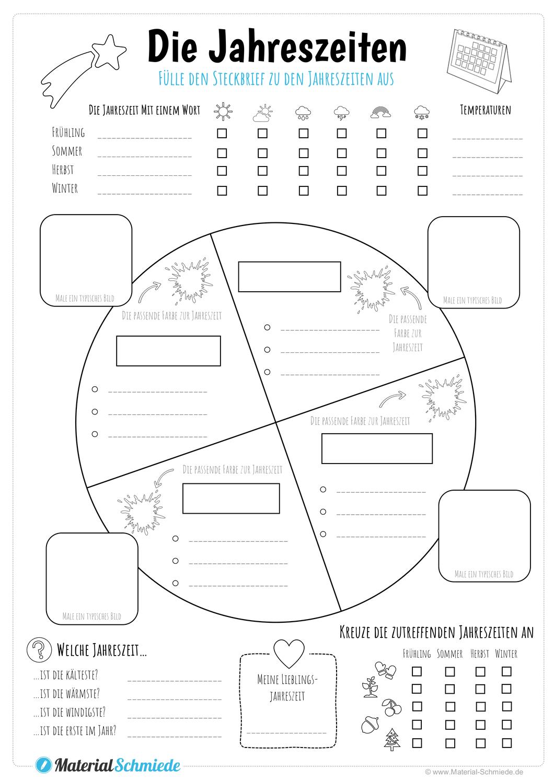 Steckbrief Jahreszeiten – Unterrichtsmaterial in den Fächern ...