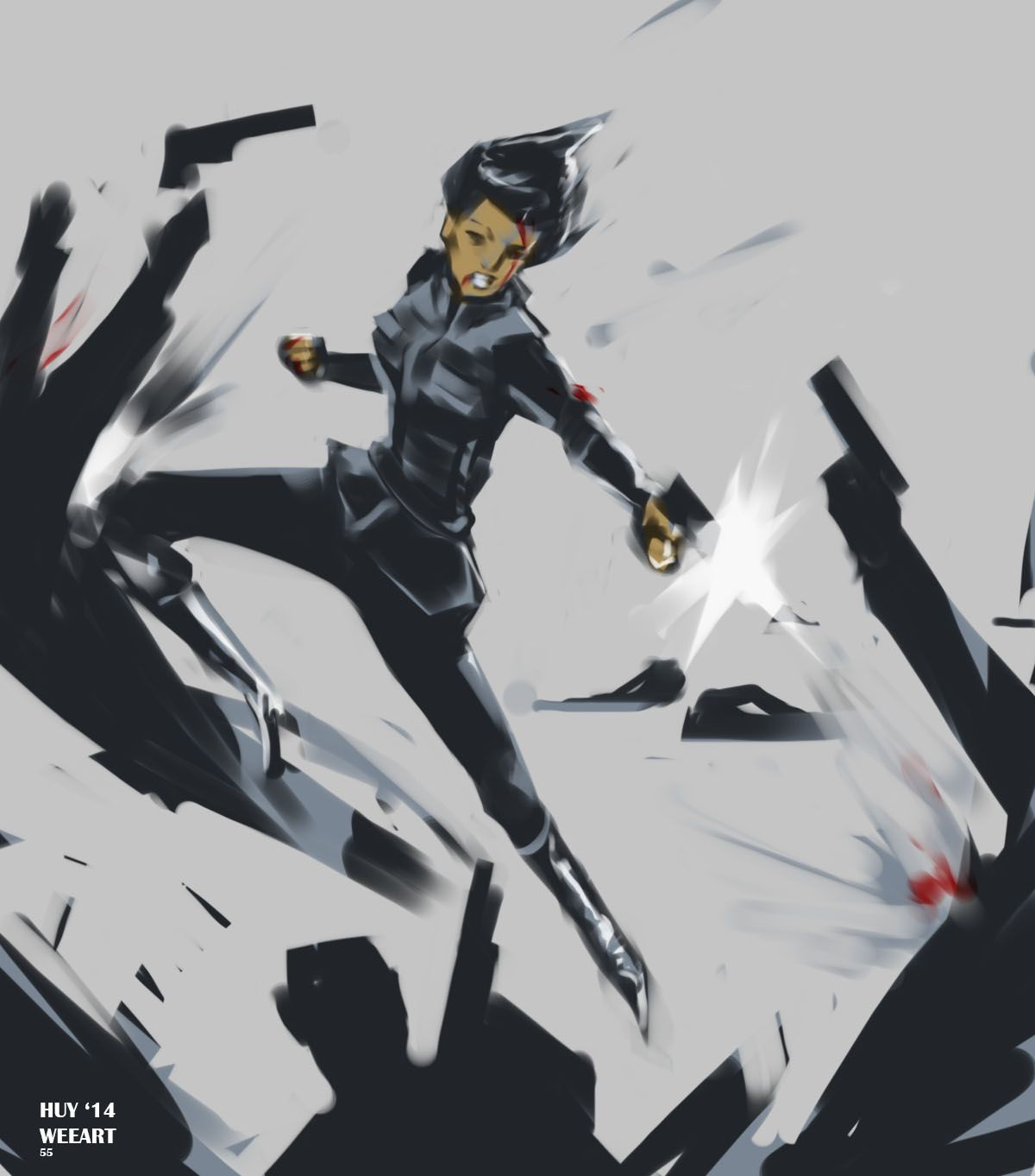 Art by Weearts: Fanart of Agent Melinda May taking care of business! :)