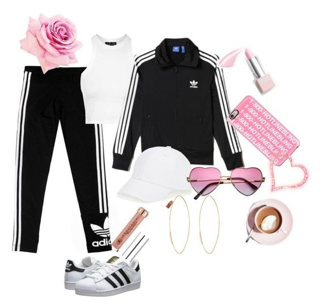 """""""Untitled #15"""" by pinkheartattack on Polyvore featuring adidas Originals, Topshop, adidas, Talbots, Lana, Casetify, Sephora Collection, Martha Stewart, women's clothing and women"""