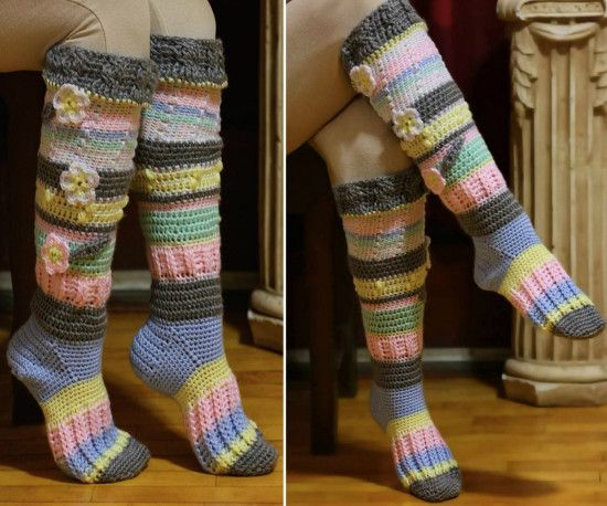 Knitted Knee High Socks Pattern Check Out All The Ideas Zapatos