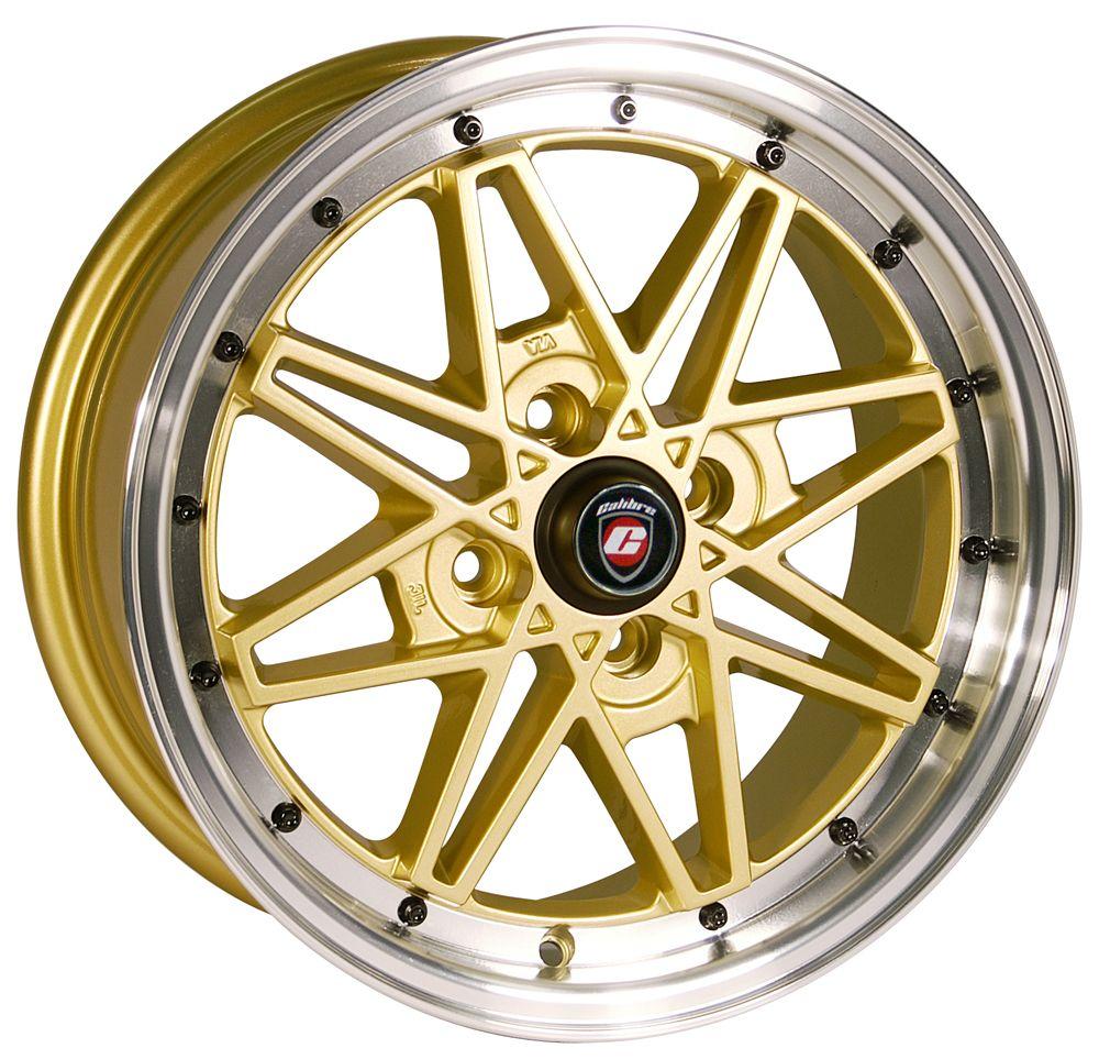 Calibre Eclipse Gold Polished Dish (Retro) Alloy Wheels