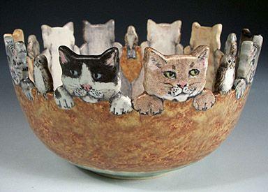 Фарфоровые звери Нан Гамильтон #ceramicpainting