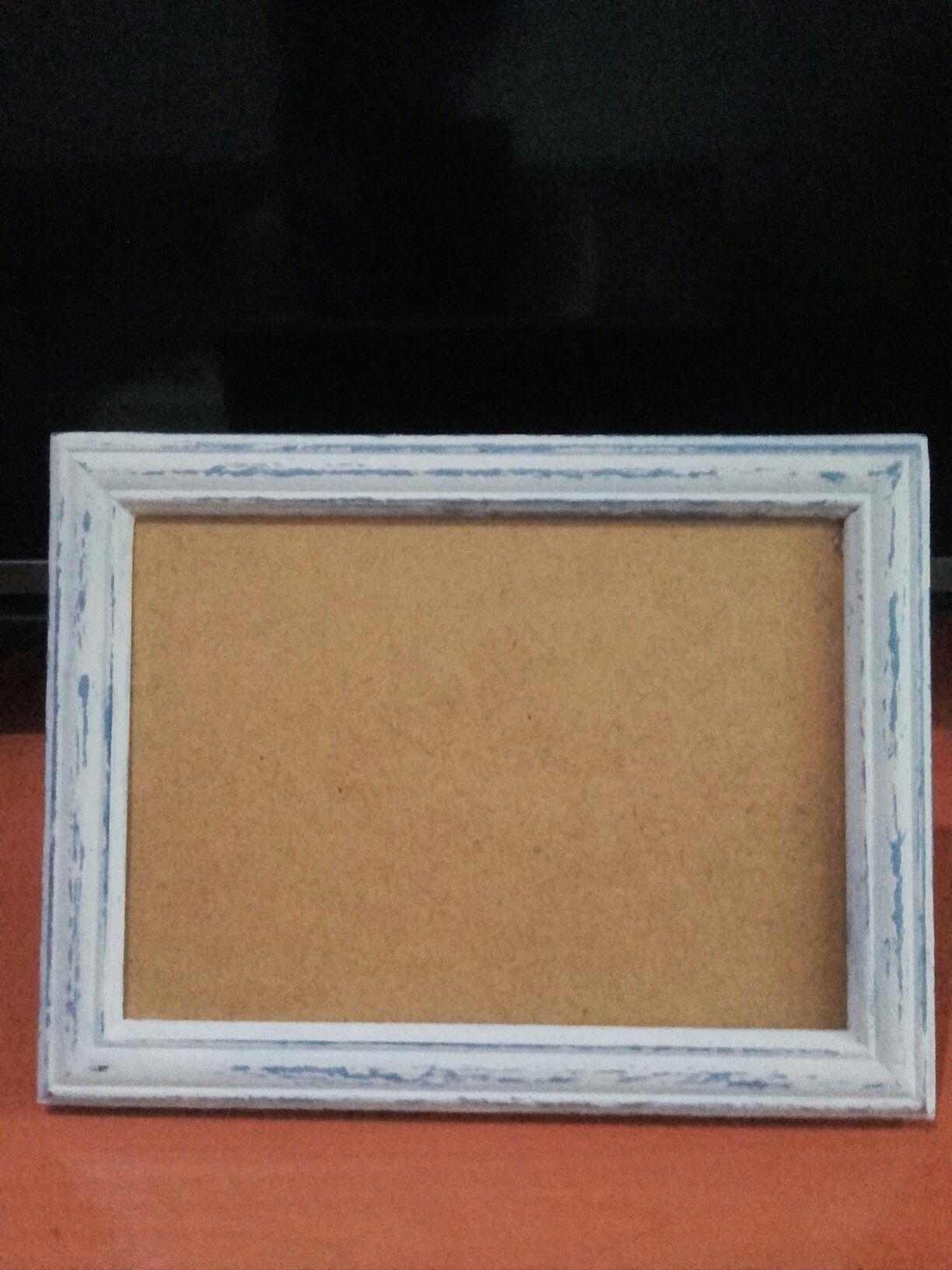 Marco de fotos restaurado con chalk paint,una primera capa de ...