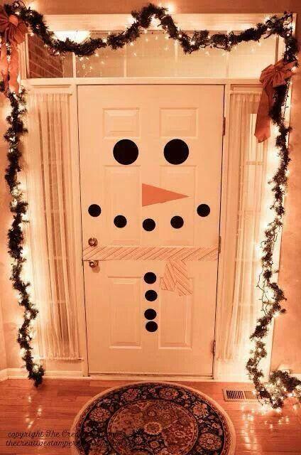 cute snowman door