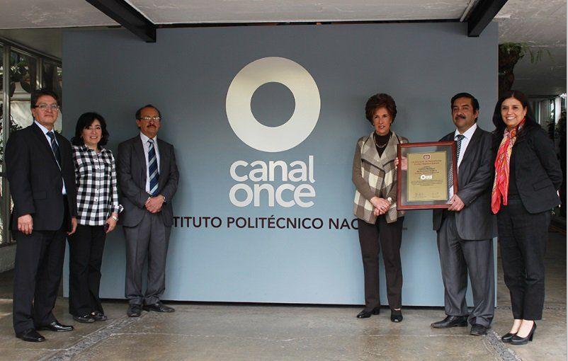 """CANAL ONCE RECIBE EL """"PREMIO NACIONAL DE PERIODISMO 2014"""""""