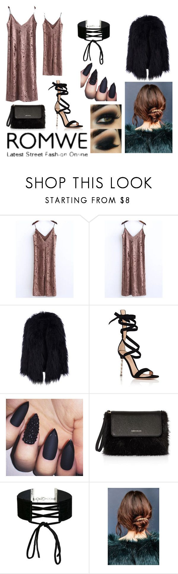 """Bez naslova #39"" by sejlabrkic ❤ liked on Polyvore featuring Gianvito Rossi, Karen Millen, Miss Selfridge and Urban Outfitters"