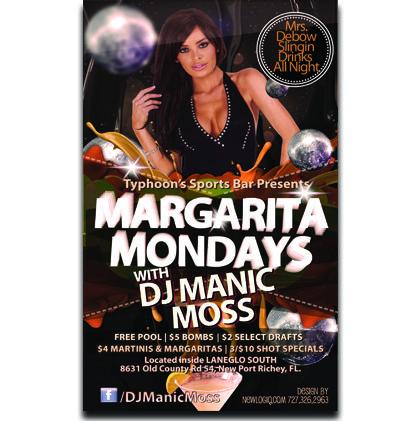 Margarita Mondays Club Flyer  Event Flyers    Event