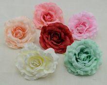 8 cm amor rosas flor de la simulación de seda venta al por mayor DIY cabeza de flor balneario zapatillas sombrero decorativo flor(China (Mainland))
