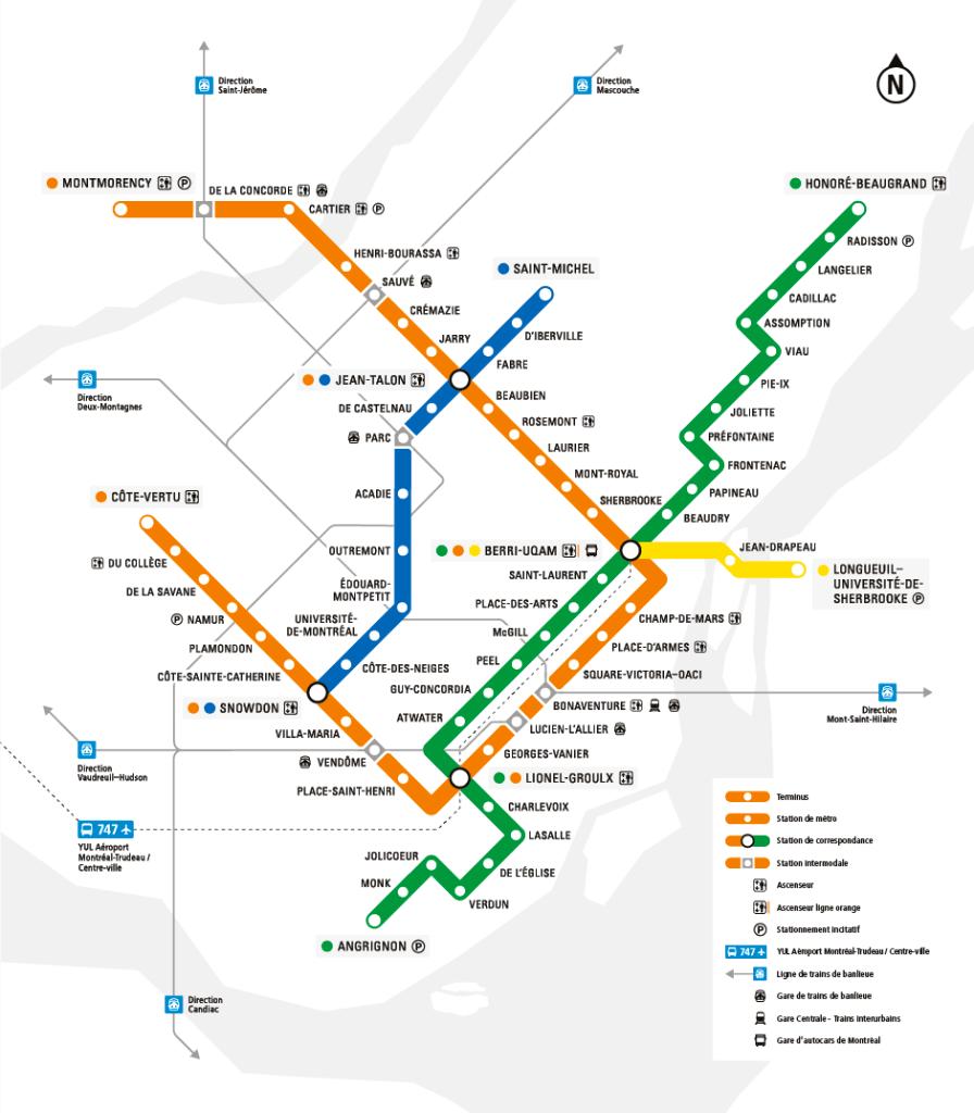 Subway Map Of Montreal.Montreal Metro Map Montreal Metro Map Montreal Metro Map In 2020 Metro Map Nyc Subway Map Subway Map
