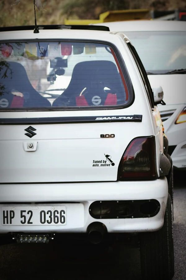 Photo of Modified White Maruti 800 | Scissor doors – ModifiedX