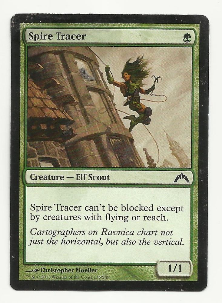 Spire Tracer X1 Mtg Hp Gatecrash Green Elf Creature Magic Card Edh
