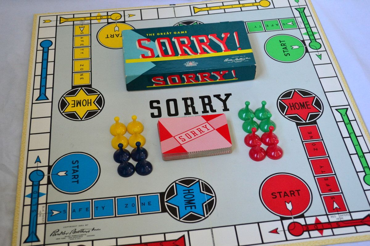 The game Sorry is based on the game Parcheesi and first