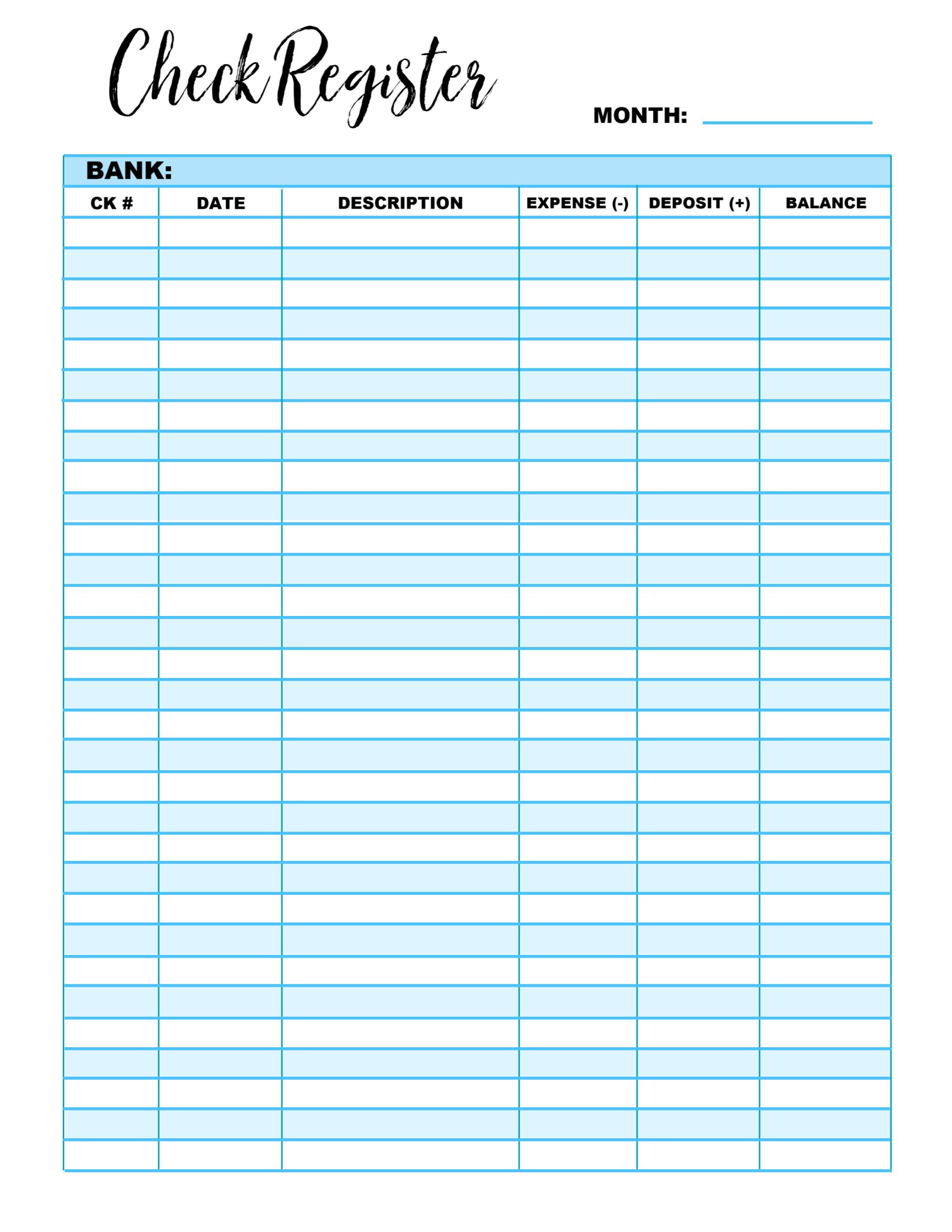 Budget Printable Series