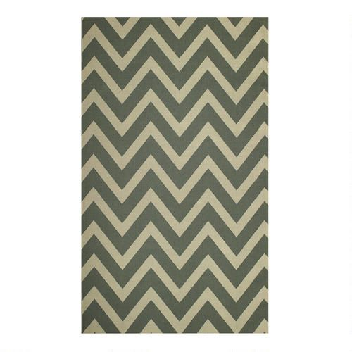 One of my favorite discoveries at Christmas Tree Shops andThat! - Chevron Indoor/Outdoor Rug 7' X 10'   $89.99