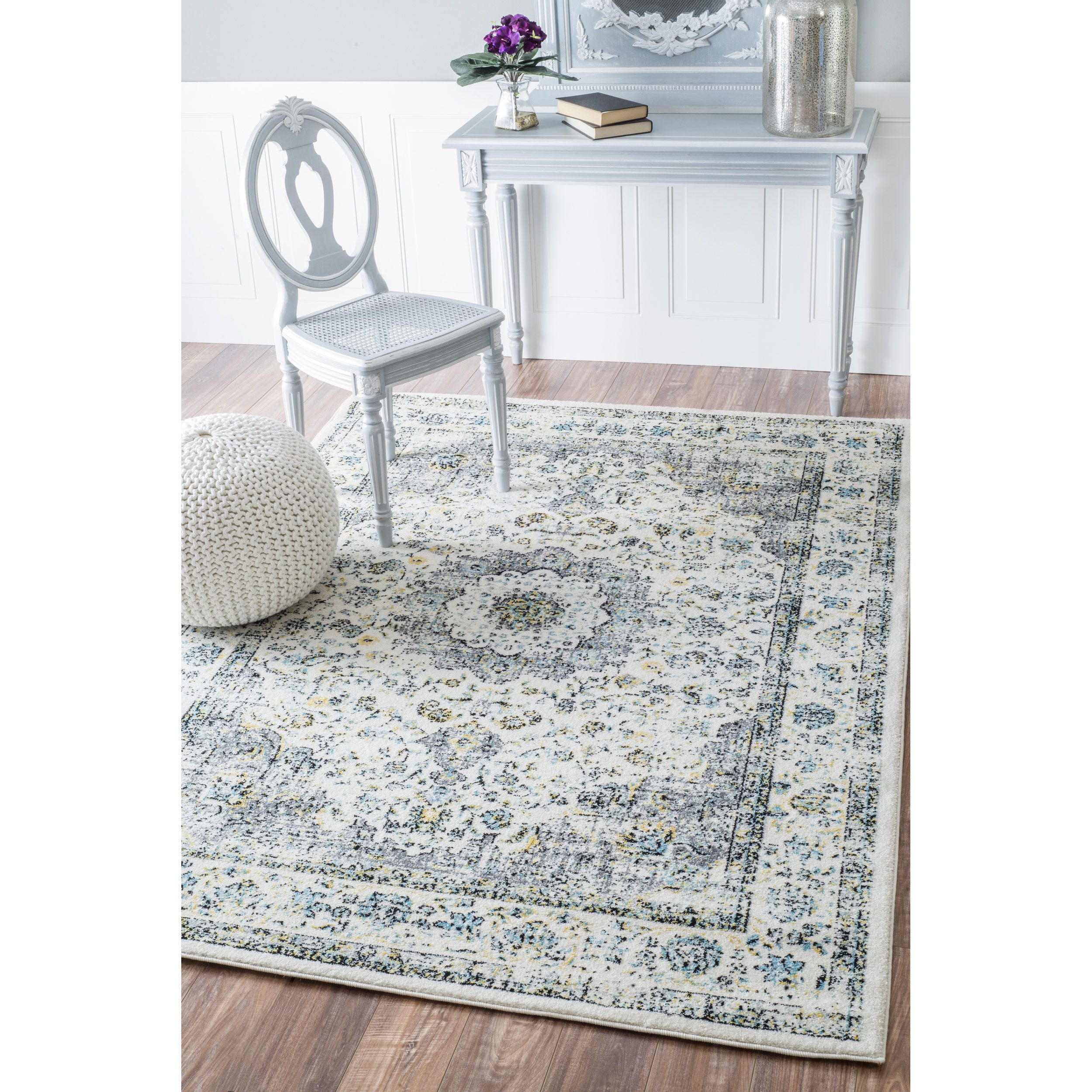 NuLOOM Traditional Persian Vintage Grey Rug 67 X 9