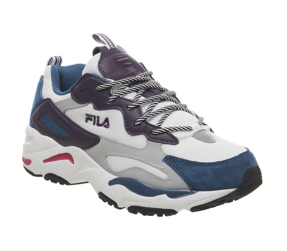 FILA Ray Tracer Blue Maroon Shoes Women