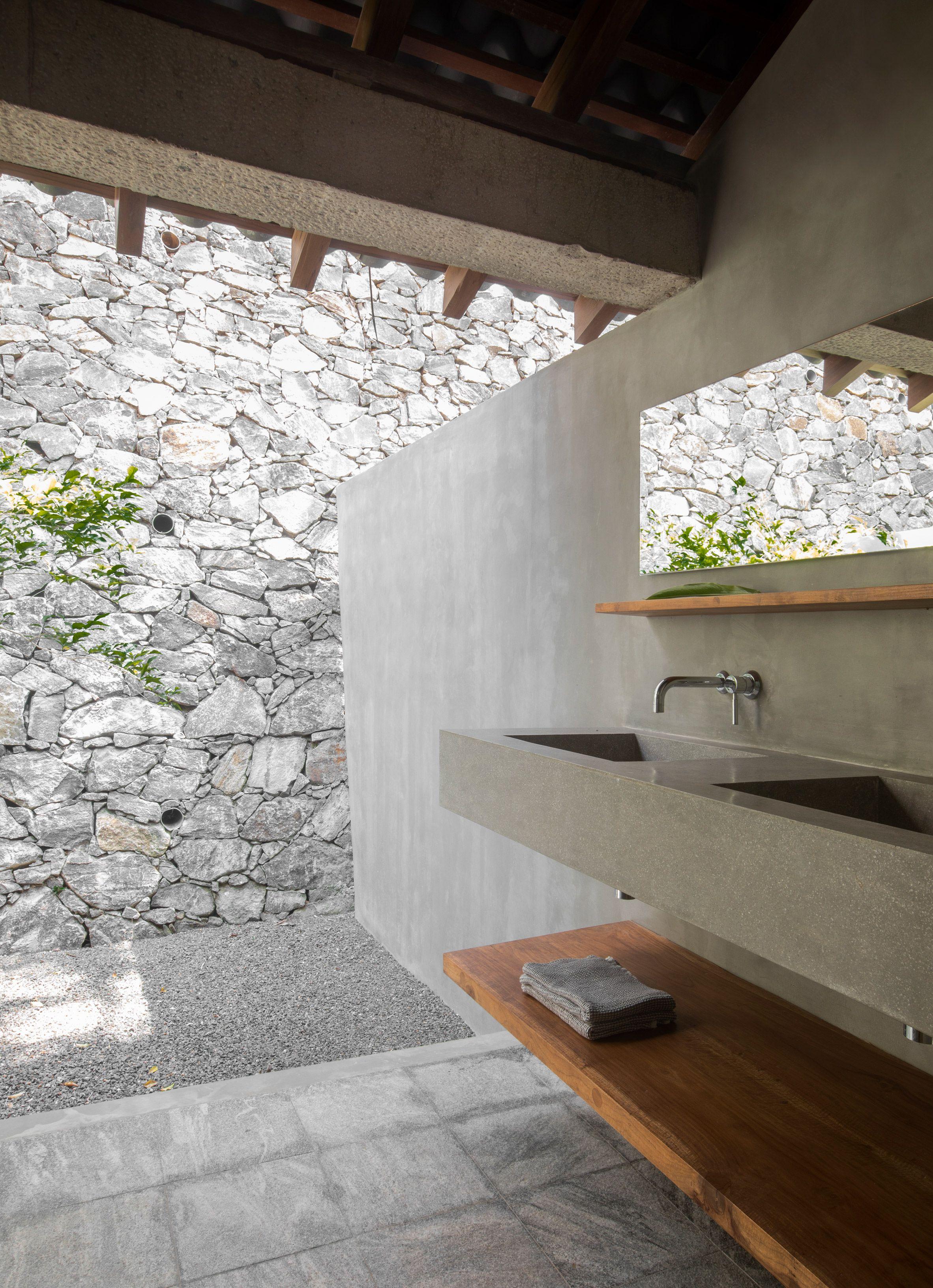 Concrete Surfaces Evoke Rough Luxury Inside Sri Lanka S K H