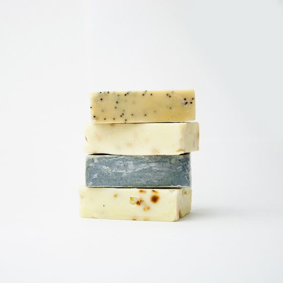 soap set of 4  organic handmade soap by TheHelloShop on Etsy, $20.00