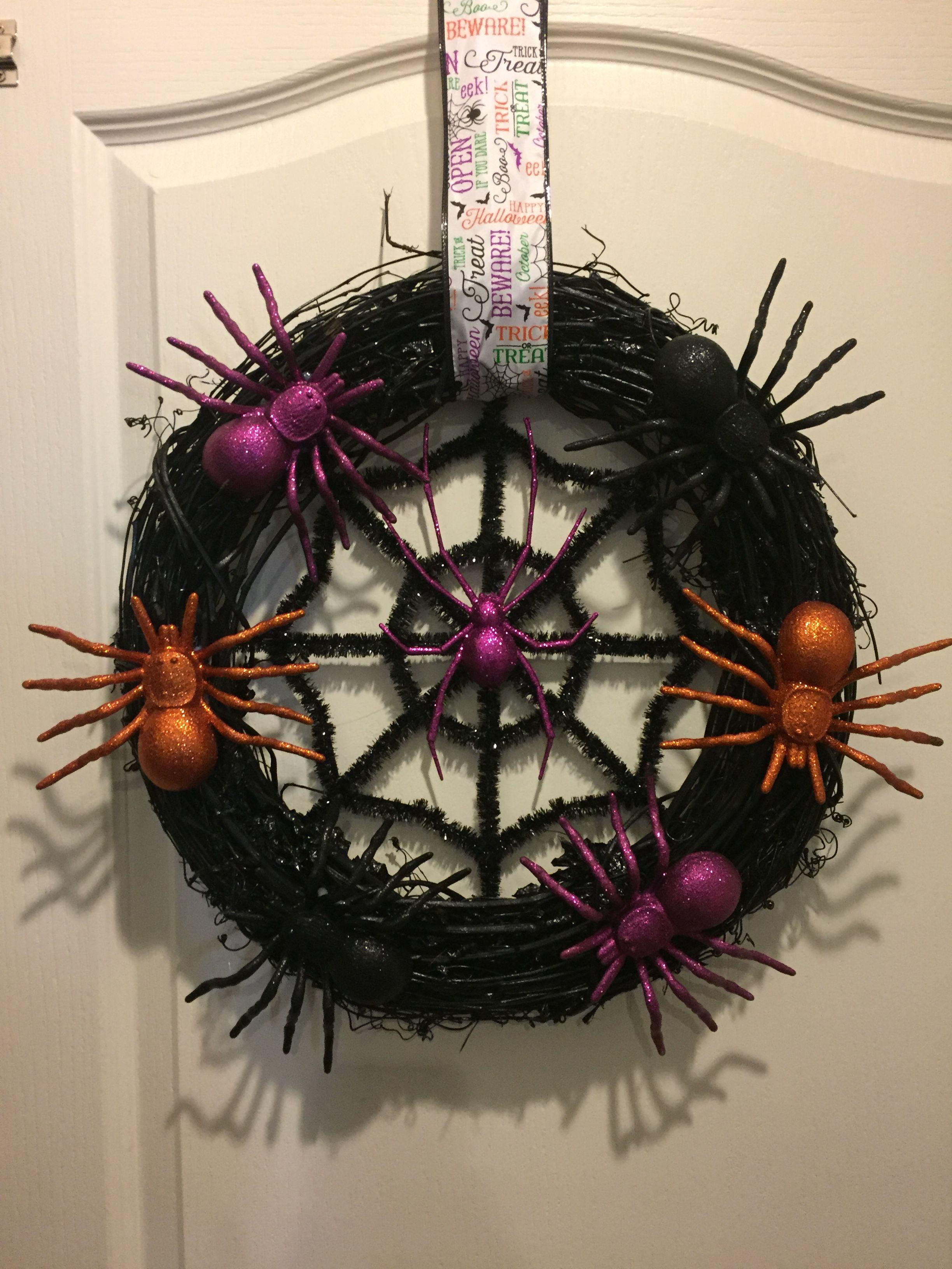 Diy dollar tree Halloween wreath Dollar tree halloween