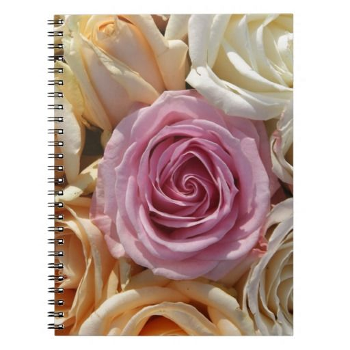 Mixed pastel roses note book