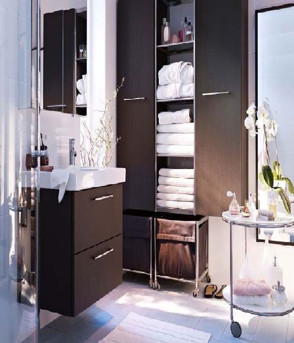 ikea-wonderful storage for a small bathroom like ours