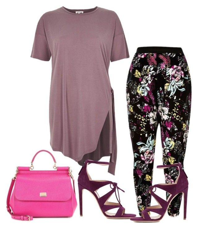 """Untitled #6629"" by tailichuns on Polyvore featuring River Island, Chloe Gosselin and Dolce&Gabbana"