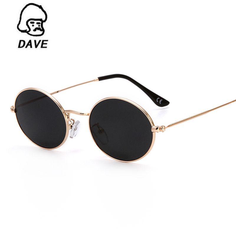 f47da5b7407c DAVE Classic Small Oval Sunglasses Women Men Brand Designer Metal Frame Sun  Glasses Unisex Vintage Eyewear Oval Driving UV400. Yesterday s price  US   11.79 ...