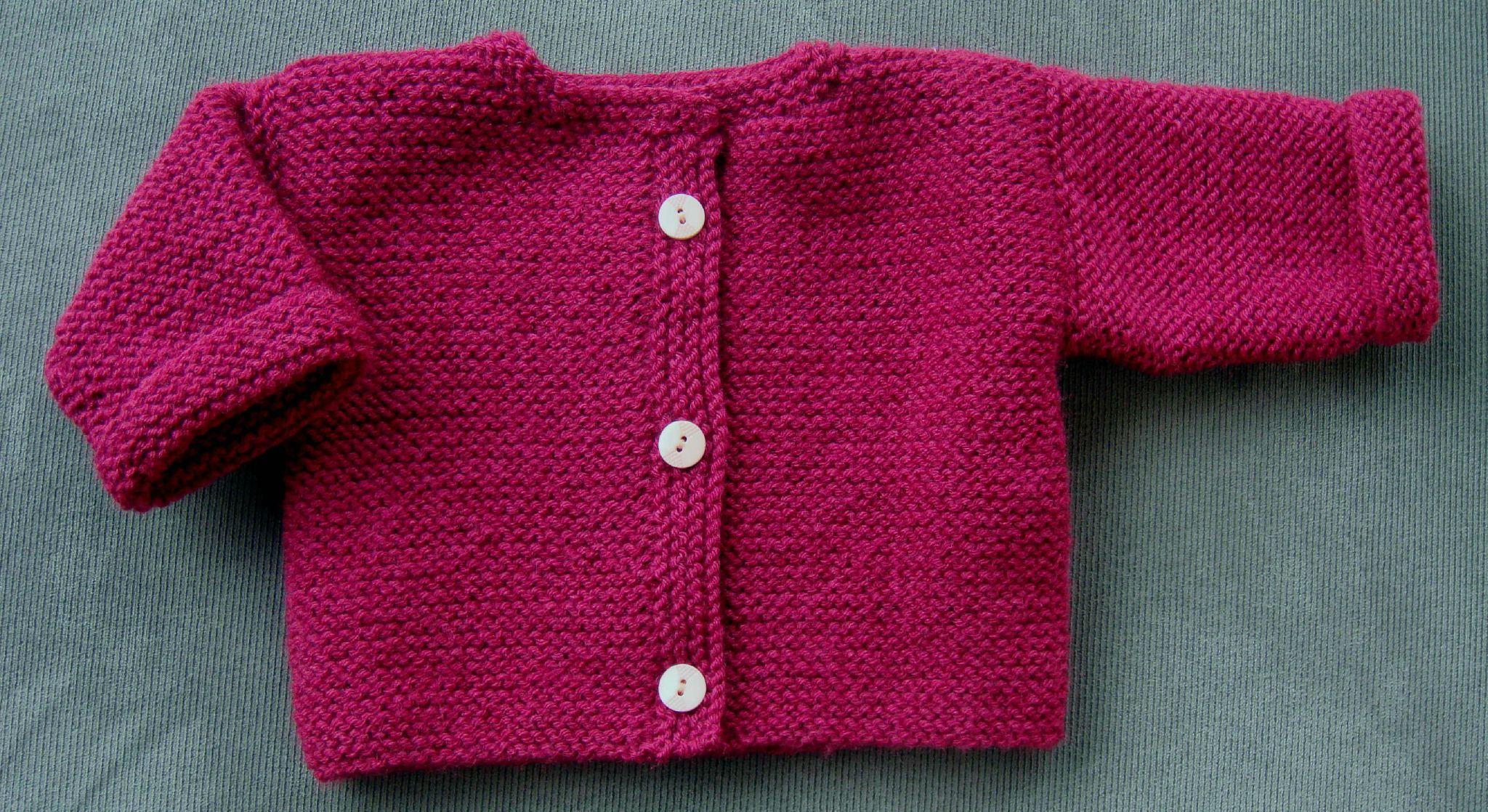 tuto tricot cardigan bebe