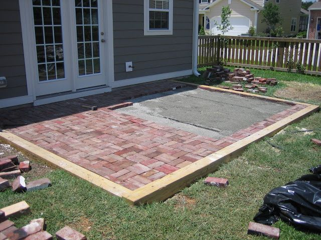 Delightful Replacing Concrete Patio With Brick In Double Basket Weave Pattern For A  Cottage Look And Feel | The Lowcountry Lady