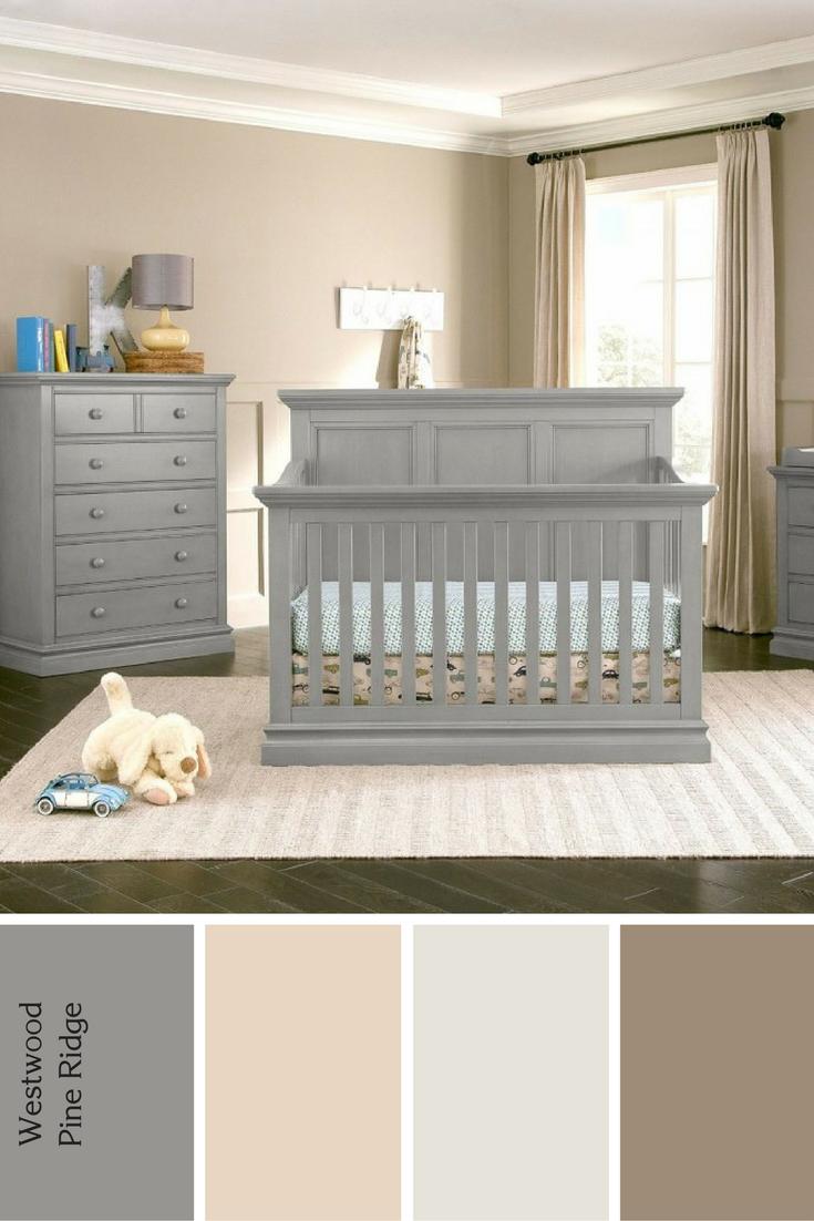 Westwood Pine Ridge 3 Piece Nursery Set White Nursery Furniture Baby Furniture Sets Gray Baby Furniture