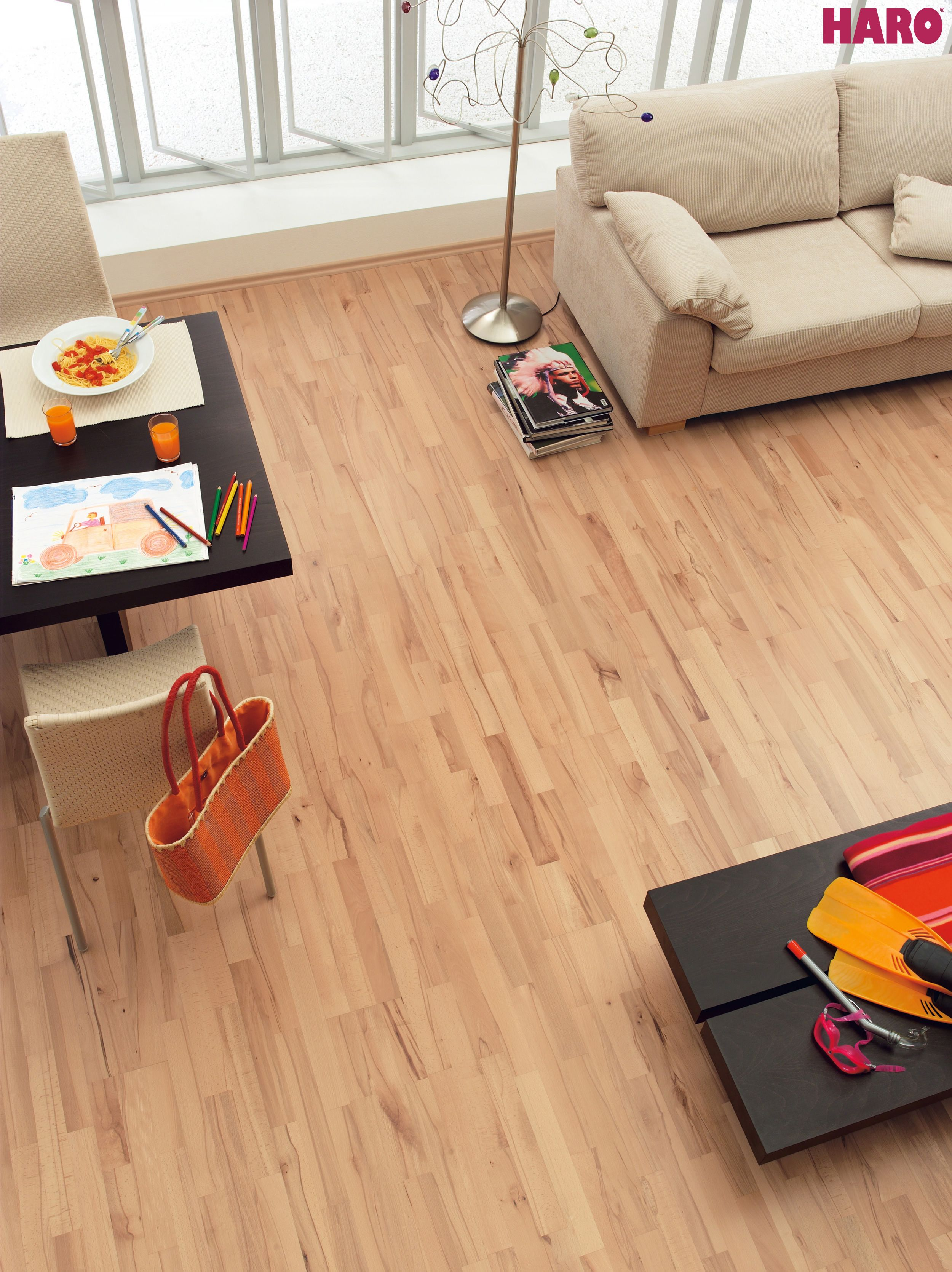 HARO PARQUET 4000 Longstrip Beech Steamed Country item