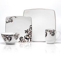 Gourmet Basics by Mikasa Chocolate Swirl Dinnerware - Set of 16
