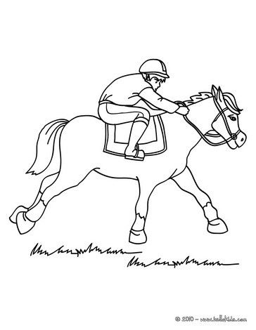 Coloring Page Of Horse Competition You Can Print Out For Free