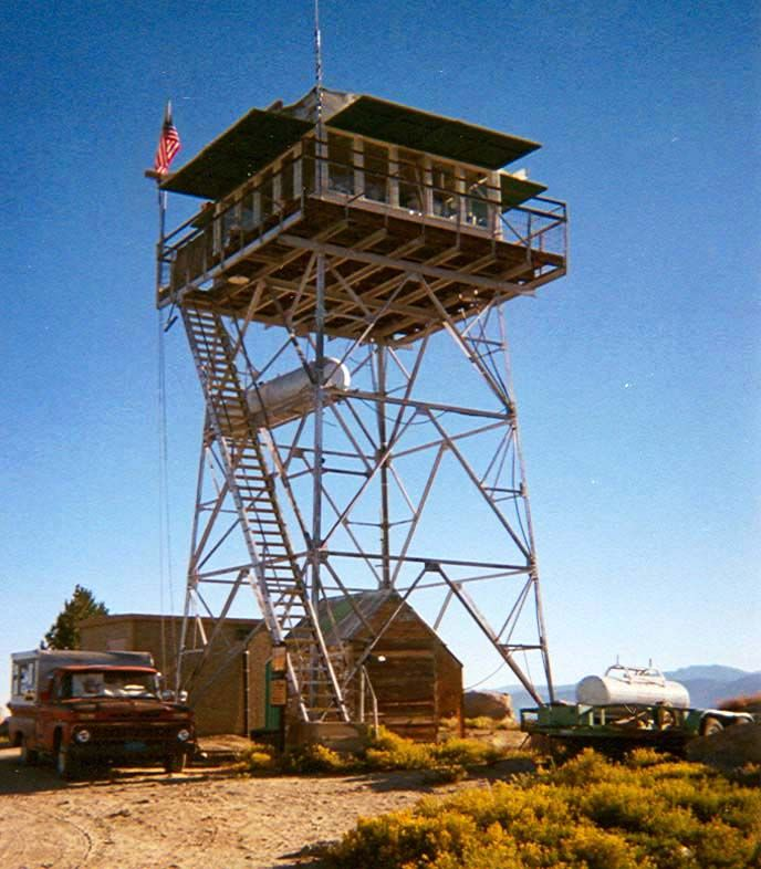 A Classic Old Lookout. Fire Lookout Towers