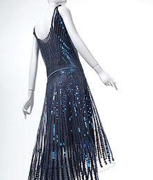 Phoenix Art Museum - Exhibition Exhibitions-Evening Dress and Slip, 1928, metal sequins on silk tulle. Dress,