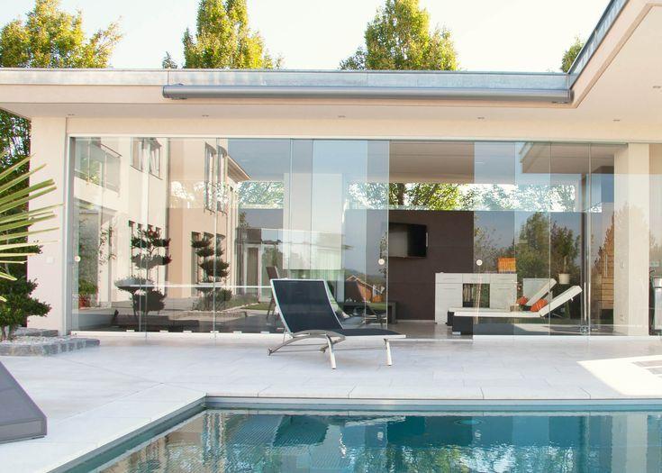 Poolhaus modern mit Glas in 2020 Haus außendesign