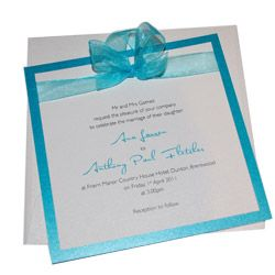Samba handmade evening wedding invitations