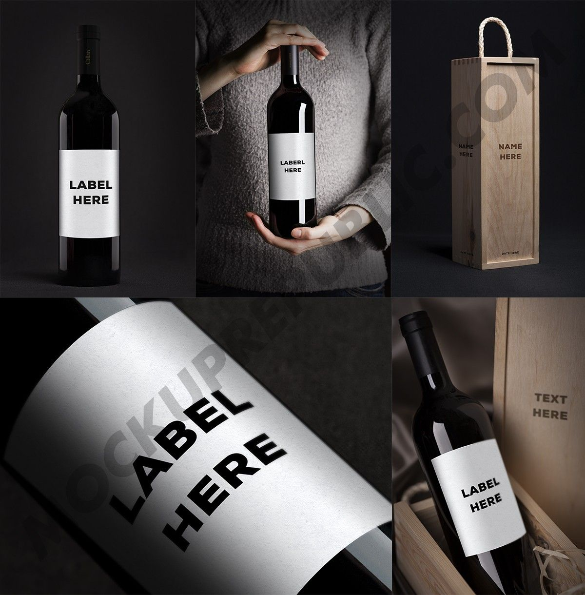 Download Mockuprepublic Com All Free Psd Mockups Elegant Wine Bottle Wine Bottle Box Bottle Box