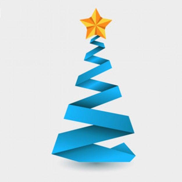 Freepik Graphic Resources For Everyone Blue Christmas Tree Blue Christmas Christmas Origami
