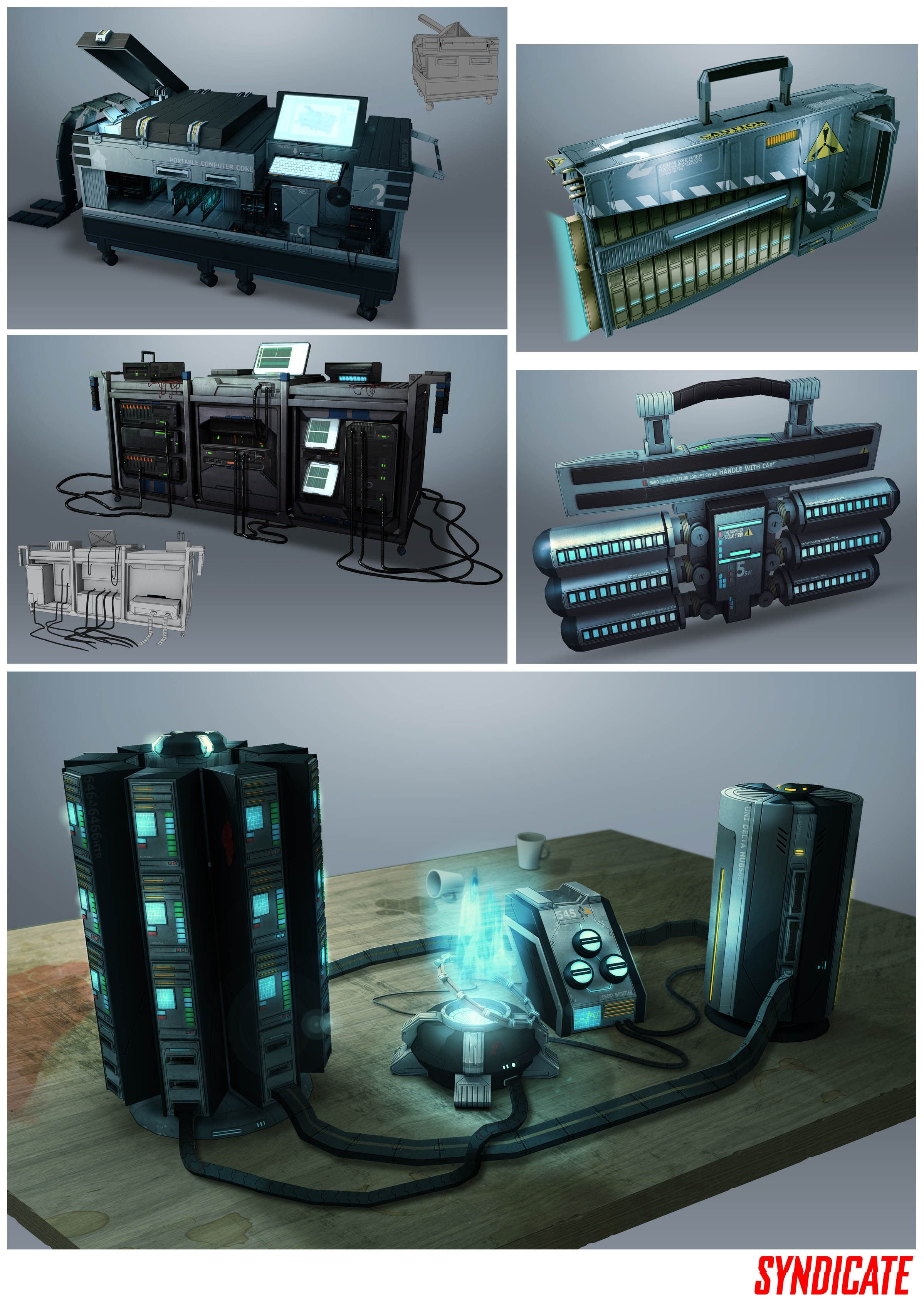 Environment assets by Bradley Wright - Game: Syndicate