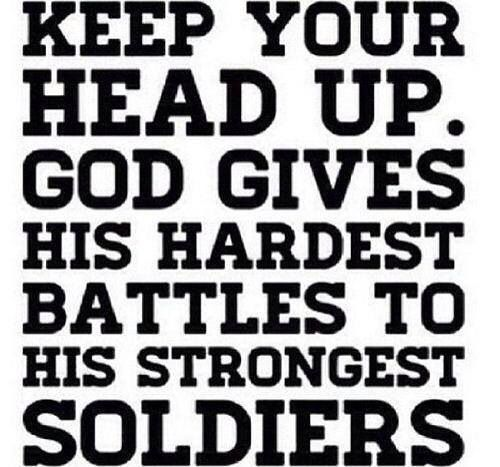 Keep Your Head Up Soldier Youre Not Alone You Have A Familyarmy