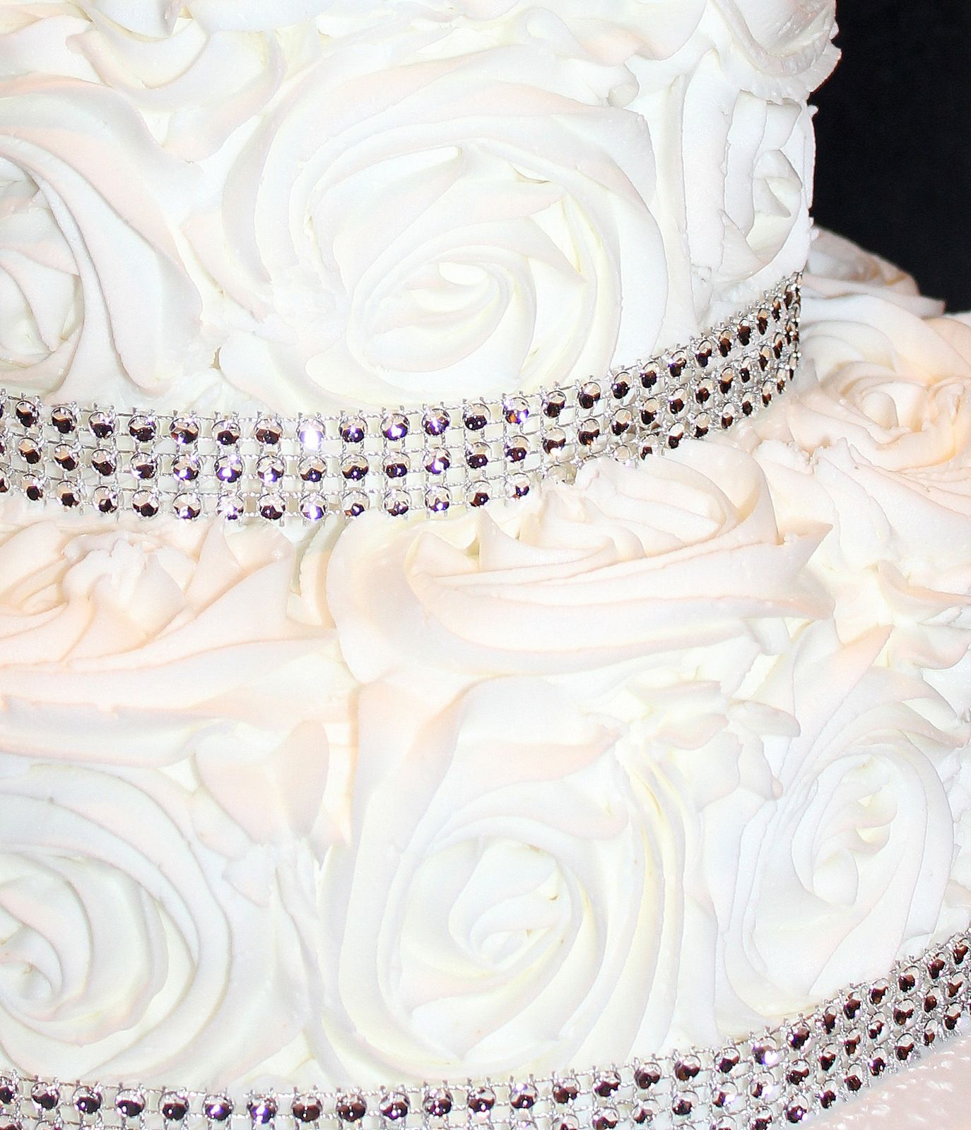 25th Wedding Anniversary Rosette cake | Let Them Eat Cake ...