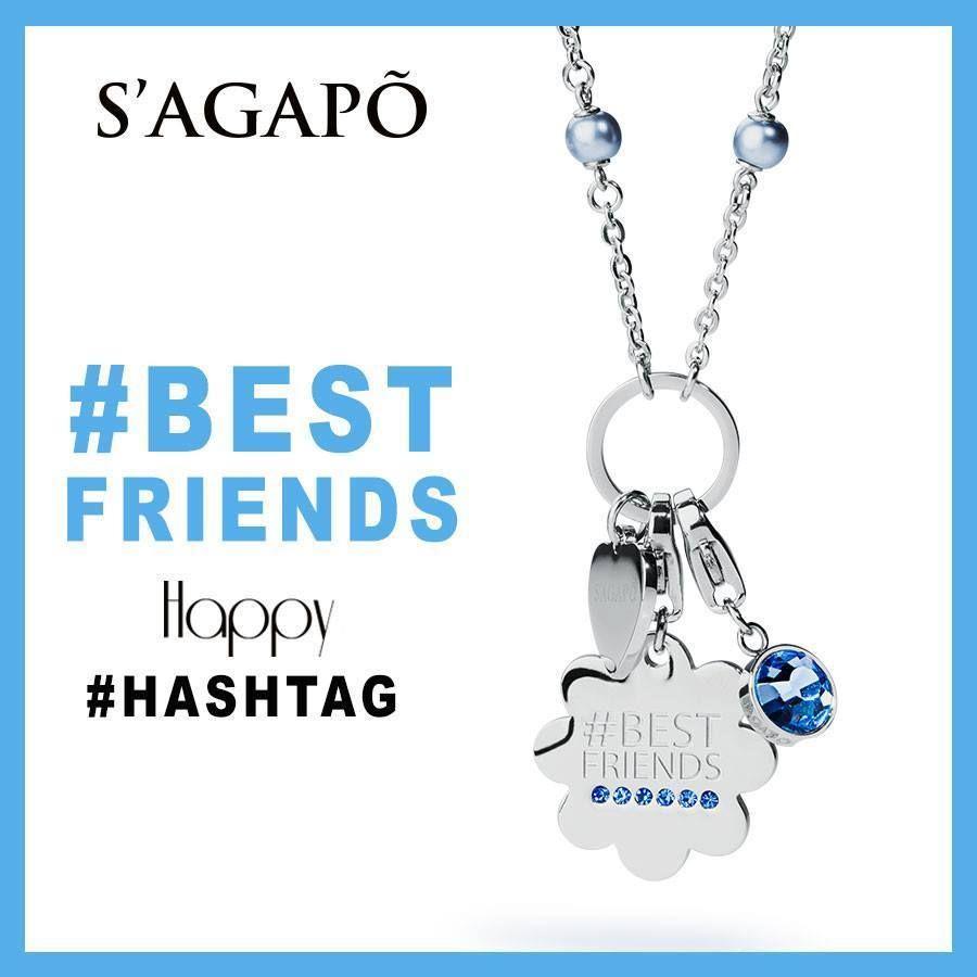 moda più desiderabile ottimi prezzi più amato HAPPY SAGAPO #hashtag #BESTFRIENDS sagapò COLLANA lunga S ...
