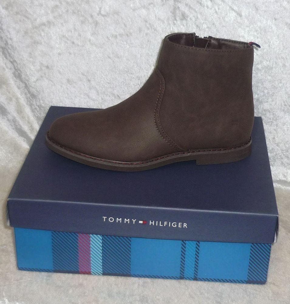 84e7ff9bcf4e5 Tommy Hilfiger Dalton Ankle Boots brown solid man made boy s kids size 3