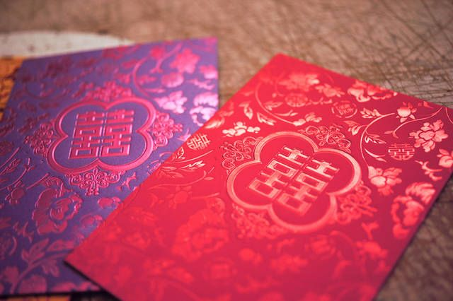 Wedding Ang Bao In Purple And Red Red Pocket Red Packet Ang Pow