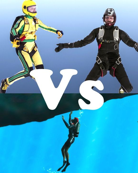Skydiving vs  Scuba diving | Opinion polls | Skydiving