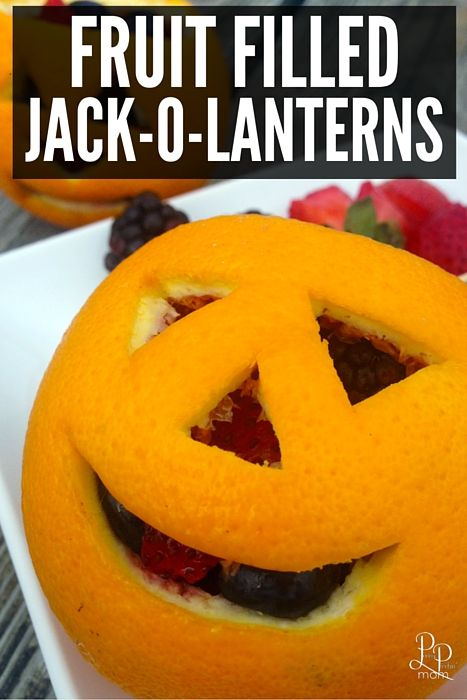 Fruit Filled Jack-o-Lanterns Recipe Halloween party treats